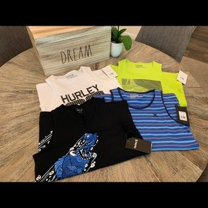 •Hurley• set of four muscle tees